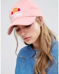 Ellesse - Baseball Cap In Pink - Pink - Lyst