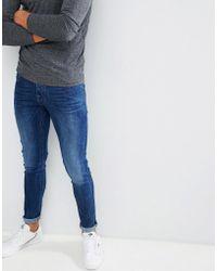 G-Star RAW - Beraw 3301 Super Slim Fit Jeans In Mid Wash - Lyst