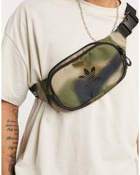 adidas Originals Сумка-кошелек На Пояс С Камуфляжным Принтом -зеленый Цвет