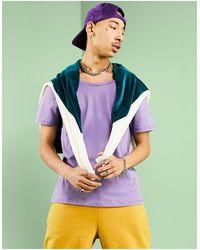 ASOS - T-shirt con scollo rotondo viola - Lyst