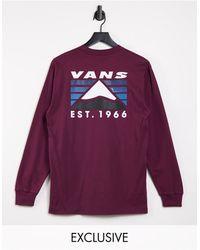 Vans Mountain - T-shirt Met Lange Mouwen En Print Op - Rood