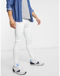 Brave Soul – Eng geschnittene Jeans - Weiß