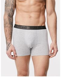River Island Trunks With Metallic Detailing - Grey