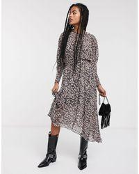 & Other Stories Midi-jurk Met Gebleekte Bloemenprint En Ballonmouwen - Meerkleurig