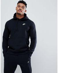 Nike Hoodie Zonder Sluiting Met Swoosh-logo In Zwart Bv2654-010