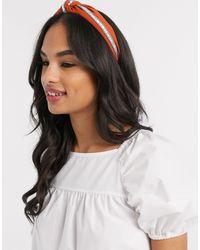 ALDO Pantglas Knotted Headband With Jewel Detail - Orange