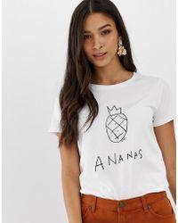 c6842092b072 adidas Originals X Farm Three Stripe T-shirt In Pineapple Print - Lyst