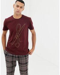 Nudie Jeans - Co Anders Bad Scissors T-shirt In Plum - Lyst