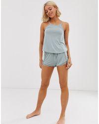 New Look - Cami Short Pyjama Set In Green - Lyst
