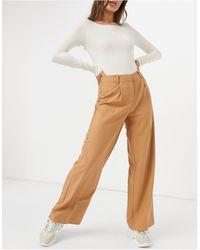 Y.A.S Светло-коричневые Брюки С Широкими Штанинами -оранжевый Цвет - Многоцветный