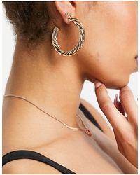 ASOS 50mm Hoop Earrings - Metallic