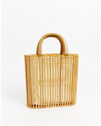 Oasis Wooden Tote Bag - Brown