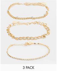 Accessorize Pack Of 3 Bracelets - Metallic