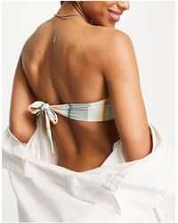 Billabong Feeling Salty Stripe Bandeau Bikini Top - Multicolour