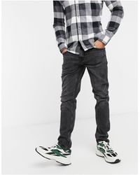 Only & Sons Slim Fit Distressed Jeans - Black