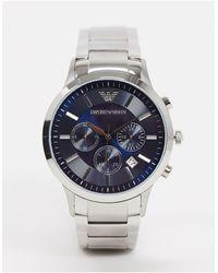 Emporio Armani Kleurig Horloge Met Blauwe Wijzerplaat Ar2448 - Metallic