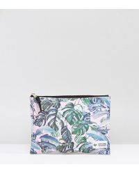 Hype - Exclusive Pastel Garden Palm Print Pouch - Lyst