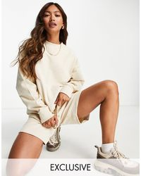 SELECTED Exclusive Unisex Organic Cotton Oversized Sweatshirt Co-ord - Multicolour