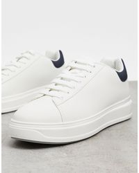 River Island Textured Sneakers - White