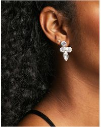 True Decadence Crystal Cluster Stud Earrings - Metallic