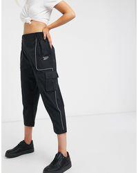 Reebok Pantalones cargo negros