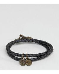 DIESEL - Alucy Wrap Leather Bracelet In Black - Lyst