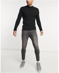New Look Серые Выбеленные Джинсы Скинни -серый