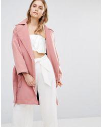 House Of Sunny - Oversized Smart Wrap Coat - Lyst