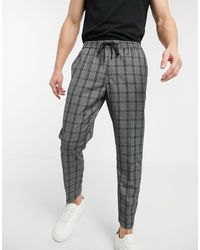 New Look Prince Of Wales Check Smart joggers - Grey