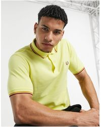 Fred Perry Twin Tipped Polo - Yellow