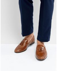 Red Tape Tassel Loafers In Tan Leather - Brown