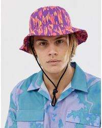 ab0cf254 ASOS Safari Bucket Hat With Aztec Tape in Black for Men - Lyst