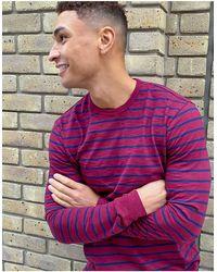J.Crew Slub Stripe Long Sleeve T-shirt - Blue