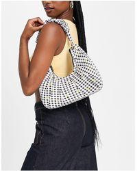 Skinnydip London Sara Ditsy Floral Ruched Shoulder Bag - Black