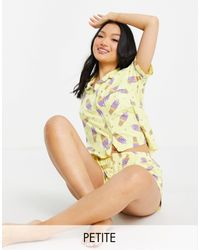 Chelsea Peers Желтый Пижамный Комплект С Принтом Мороженого Petite