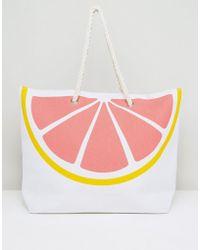 South Beach Pink Grapefruit Beach Bag