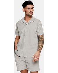 TOPMAN Camisa gris