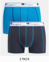 Champion 2 Pack Jersey Boxer Shorts - Blue