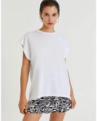 Pull&Bear Белая Oversized-футболка -белый
