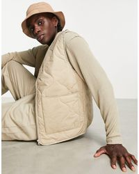 Pull&Bear Quilted Vest - Multicolour