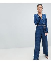 Missguided - Contrast Print Pyjama Jumpsuit - Lyst