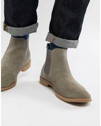 ASOS Chelsea Boots Met Natuurlijke Zool - Grijs