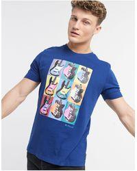 Ben Sherman Camiseta con estampado - Azul