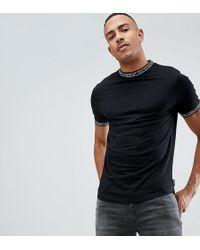 D-Struct - Tall Slogan Ribbed Ringer Single Jersey T-shirt - Lyst
