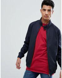 Threadbare - Cotton Check Lined Harrington Jacket - Lyst