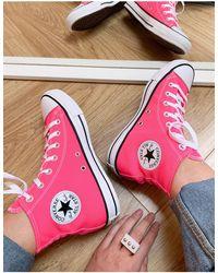 Converse Розовые Высокие Кеды Chuck Taylor All Star Hi-розовый Цвет