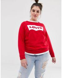 Levi's Свитшот С Круглым Вырезом И Логотипом -красный