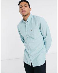 Lacoste - Хлопковая Оксфордская Рубашка Классического Кроя -зеленый Цвет - Lyst
