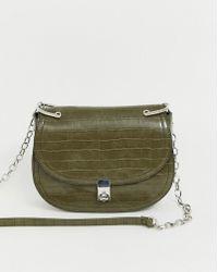 Versace Jeans Moc Croc Bucket Drawstring Shoulder Bag in Black - Lyst 94cf233afe