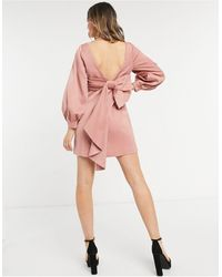 Forever New Розовое Платье Мини С Бантом На Спине -розовый Цвет